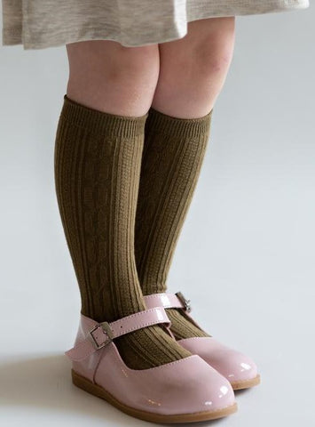 Little Stocking Co Knee High Socks - Olive
