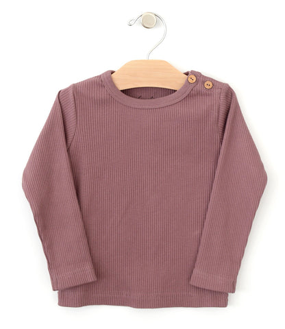 City Mouse Orchid Ribbed Long Sleeve Tee Basically Bows & Bowties