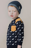 Petit Lem PL Kids Navy Wolf Shirt with Pocket - Basically Bows & Bowties