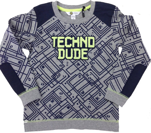 Petit Lem PL Kids Techno Dude Graphic Print Sweatshirt