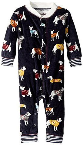 PJ Salvage  Salvage Kids Fleece Sweater Dogs Romper - Basically Bows & Bowties
