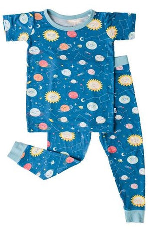 Little Sleepies Space Bamboo 2pc S/S Pajama Set