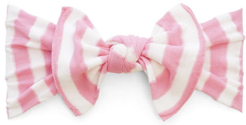 Baby Bling Pink Stripe Patterned Knot Headband - Basically Bows & Bowties