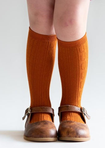 Little Stocking Co Pumpkin Spice Knee High Socks Basically Bows & Bowties
