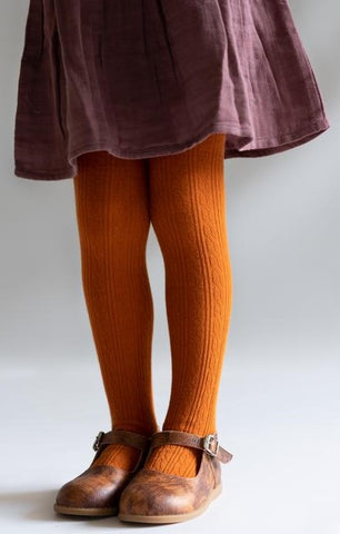Little Stocking Co Pumpkin Spice Cable Knit Tights Basically Bows & Bowties