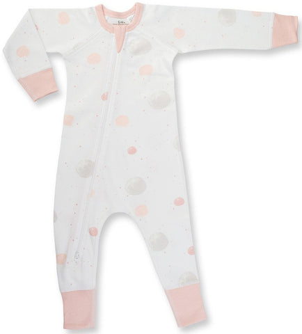 Sapling Child Blushing Orbit Zip Romper