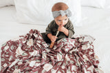 Copper Pearl Scarlet Knit Swaddle Blanket Basically Bows & Bowties