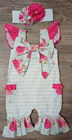 Serendipity Vintage Bloom Coverall w/Headband