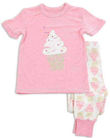 Silkberry Baby Pink Ice Cream Pajama Set