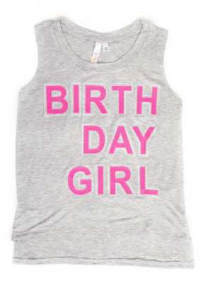 Malibu Sugar Birthday Girl Sleeveless Muscle Tee