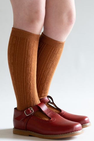 Little Stocking Co Sugar Almond Knee High Socks Basically Bows & Bowties