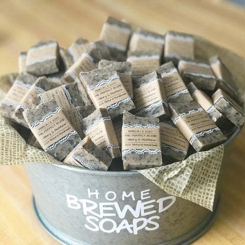 Coffee Soap favors for guests