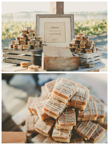 Rustic wedding favor soaps for your big day Home Brewed Soaps