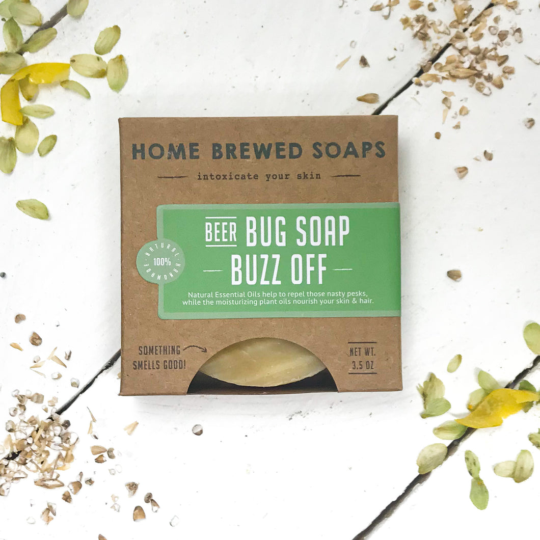 Beer Soap - Bug Repellent Soap - Camping Soap - Buzz Off - Home Brewed Soaps