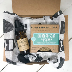 Beard Gift Set - Beard Shampoo - Beard Oil - Mintwood & Hops