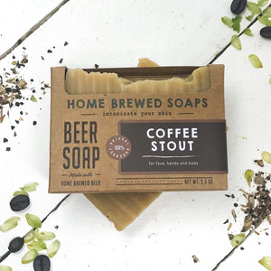 Beer Soap - Coffee Stout - Coffee Soap - Unscented - Home Brewed Soaps