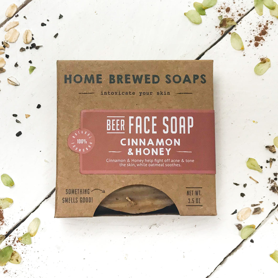 Cinnamon Soap - Face Soap - Oatmeal Soap - Acne - Home Brewed Soaps
