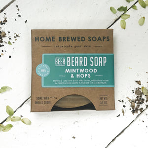 Beard Shampoo - Beard Soap - Mintwood & Hops - Beer Gift - Home Brewed Soaps