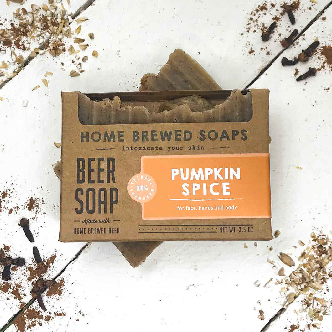 Beer Soap - Pumpkin Spice - Natural Soap for Beer Lovers - Home Brewed Soaps
