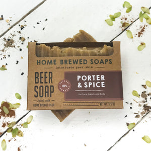 Beer Soap - Porter & Spice - Mens Soap - Beer Gift - Home Brewed Soaps