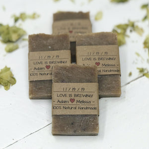 Love is Brewing - Beer Soap - Unique Wedding Favors - Home Brewed Soaps