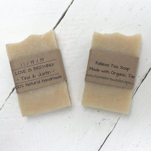 Love is Brewing - Wedding Soap Favors - Home Brewed Soaps