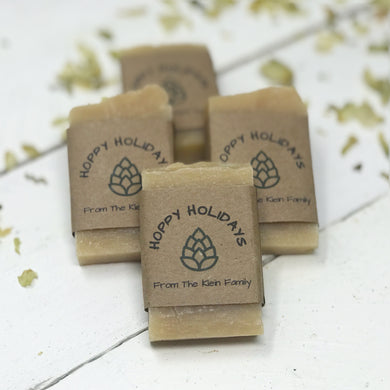 Party Favor Soaps for Christmas  - Beer Soap Favors - Guest Soap - Home Brewed Soaps