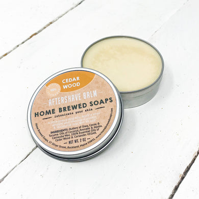 Natural After Shave Balm - Cedarwood - Home Brewed Soaps