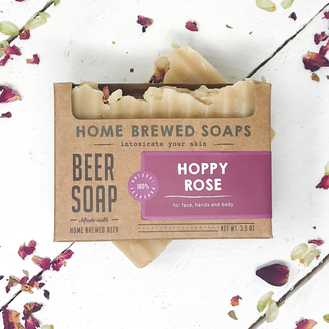 Hoppy Rose Beer Soap