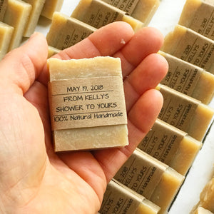 Personalized Favors - Wedding Favors - Soap - Home Brewed Soaps