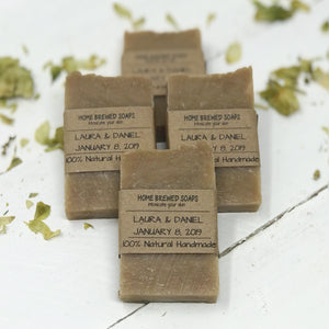 Rustic Wedding Favors - Beer Soap - Personalized Favors - Home Brewed Soaps