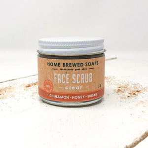 Face Scrub - Natural Acne Skin Care - Sugar Scrub - Home Brewed Soaps