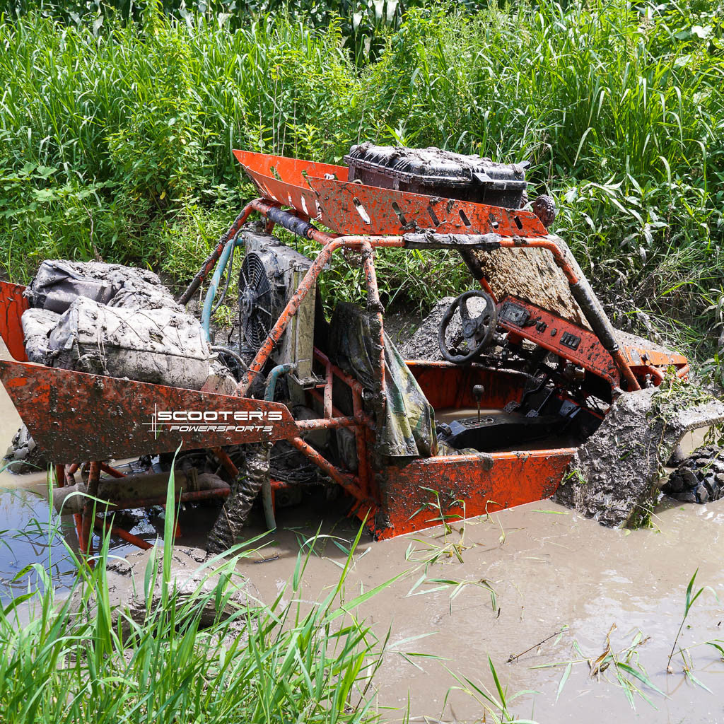 KFI Winch in Mud. This is What Happens.
