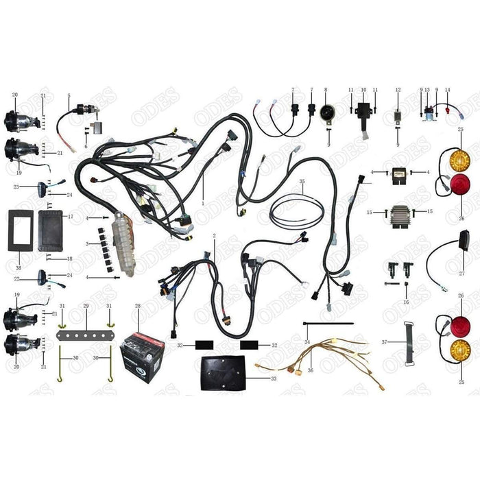odes wiring diagram wiring diagramodes assailant electrical system scooter\\u0027s powersportsodes wiring diagram 7