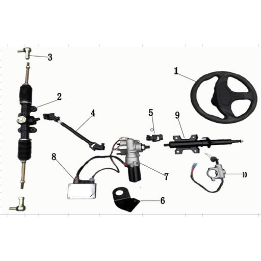 ODES Comrade Steering System | Scooter's Powersports