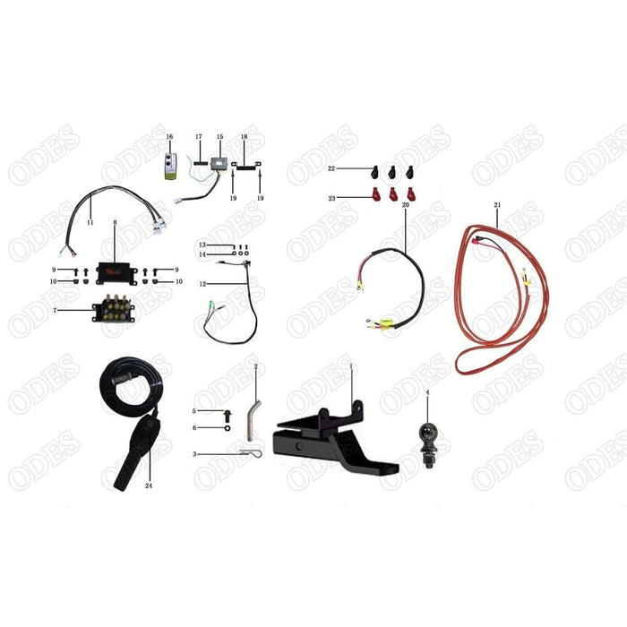 odes dominator tow hitch and rear winch parts scooter s powersports rh scooterspowersports com Odes Dominator UTV Odes UTV Is Junk