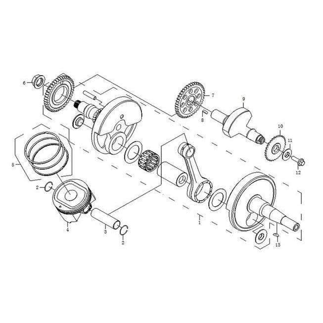 ODES 650cc Crankshaft | Scooter's Powersports