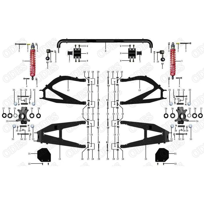 ODES Ravager Rear Suspension | Scooter's Powersports