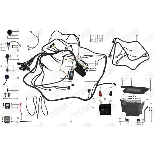 battery scooter s powersports rh scooterspowersports com Trailer Wiring Diagram Electrical Wiring Diagrams