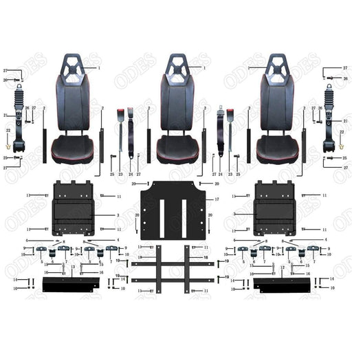 ODES Dominator-X4 Rear Seats | Scooter's Powersports