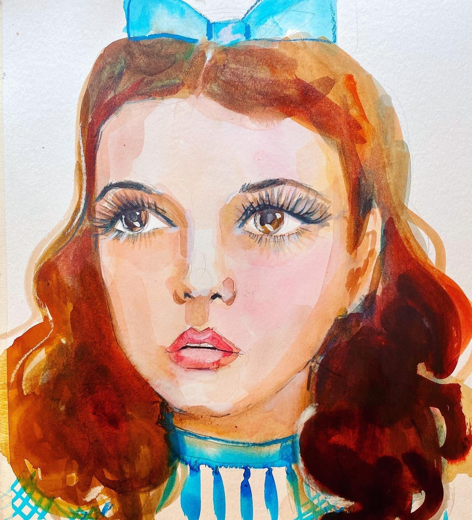 "Dorothy. 12""x12"" origins watercolor painting. - Kyra Kendall"