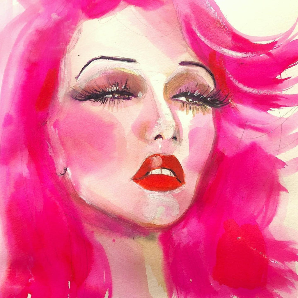 "Gwen. 12""x12"" original watercolor painting."