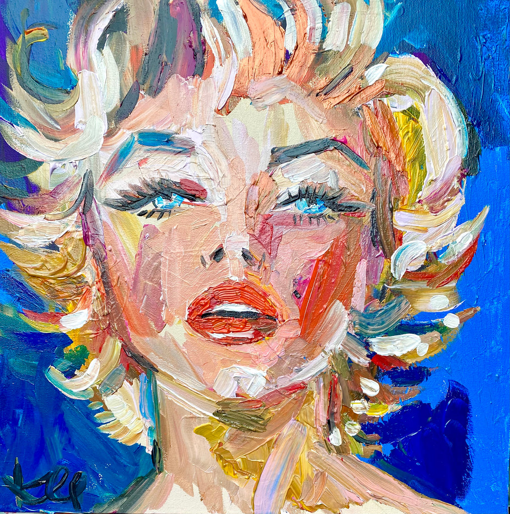 "Marilyn. 16""x16"" original acrylic painting."