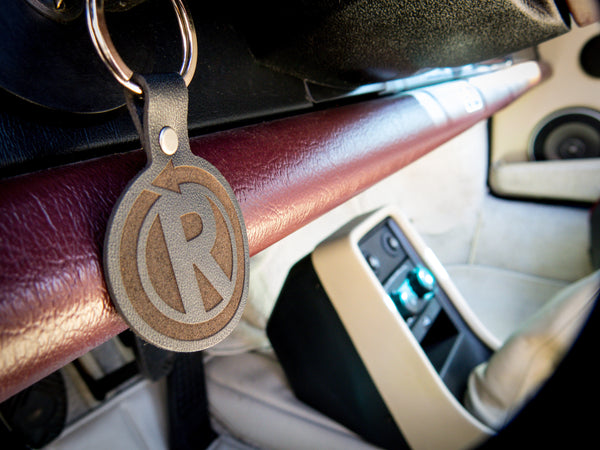 Leather Logo Key Fob