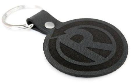 RetroGrade Leather Logo Key Fob