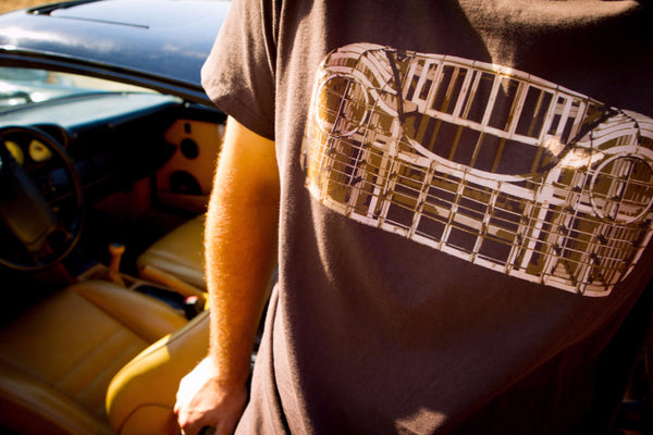RetroGrade Buck T-Shirt Lifestyle in Car