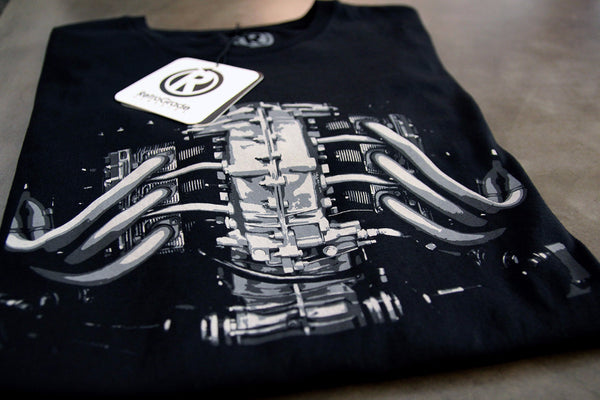 RetroGrade Flat-Six T-Shirt Main Product Shot