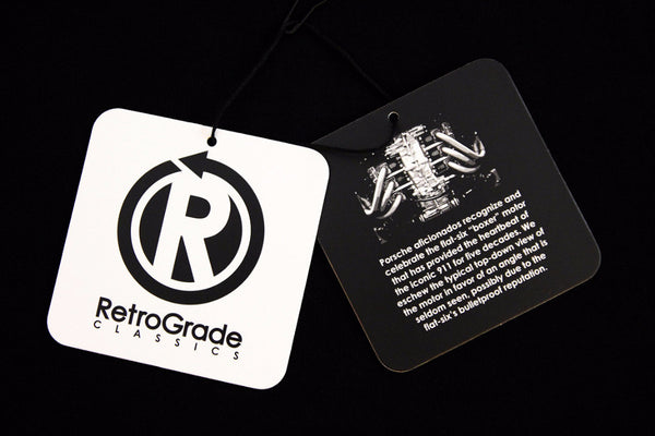 RetroGrade Flat-Six T-Shirt Hangtags