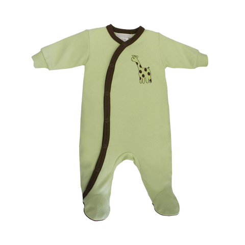 ECO Footie green GIRAFFE
