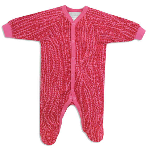 Fuchsia Bubbles Footie